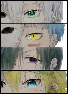Akatsuki no Yona (Yona of the dawn) the beautiful eyes of the 4 dragons! Shinah is my favorite though!