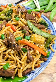 Put down that to-go menu and hop in the kitchen to put together this simple Beef Chow Mein. Crisp veggies, tender beef, and eggy noodles are tossed in a Chinese-inspired sauce that will have your family looking around the kitchen for those little takeout boxes. Anyone else think noodles should be an official food group? …