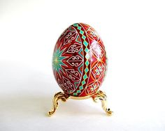 Pysanka Ukrainian Easter eggsbatik by UkrainianEasterEggs on Etsy