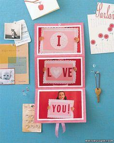 Como fazer cartões de amor originais - Vix