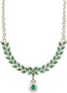 Brasilica by EFFY Emerald (11-3/4 ct. t.w.) and Diamond (2-3/4 ct. t.w.) Pendant Necklace in 14k Gold on shopstyle.com