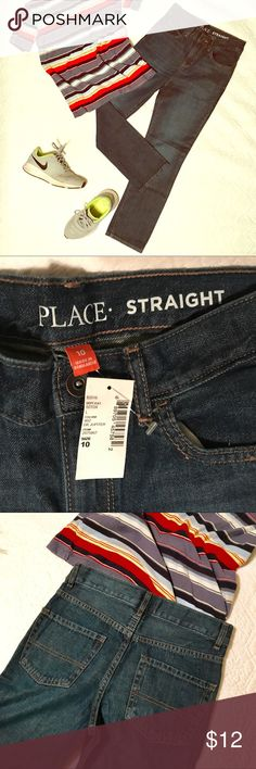 NWT straight jeans Children's Place These brand new jeans are already too right for my son 😞. Children's Place denim is familiar to most parents, I think. Let me know if you have specific questions! Children's Place Bottoms Jeans
