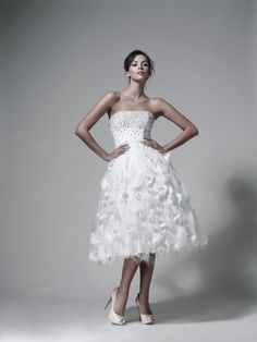 Maciej Zień short wedding dress