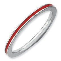 Captivating Silver Stackable Red Enamel Ring. Sizes 5-10 Available Jewelry Pot,http://www.amazon.com/dp/B008BMRH8W/ref=cm_sw_r_pi_dp_90DJsb0ZN1MBZRX9