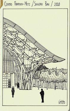 Centre Pompidou Metz Shigeru - Поиск в Google Shigeru Ban, Pompidou Metz, Waste To Energy, Family Drawing, Digital Fabrication, Parametric Design, Architecture Portfolio, Sketches, Pavilion