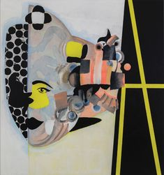 Charline von Heyl, Carlotta, 2013. JASON MANDELLA/COURTESY THE ARTIST AND PETZEL, NEW YORK/OVITZ FAMILY COLLECTION, LOS ANGELES