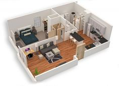 Top 10 Modern Small Home Plans Everyone Will Like Small Modern House Plans, Sims House Plans, Modern Floor Plans, House Layout Plans, House Layouts, Container House Design, Small House Design, Home Design Plans, Plan Design