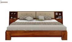 Bolivia Multi Storage Bed (King Size, Honey Finish)-2