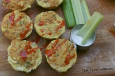 Buffalo Chicken Muffins - The Paleo Mama  2 chicken breasts and 5 eggs make 12 HEARTY muffins!