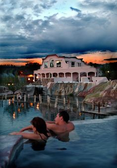 Pagosa Springs Resort, Colorado....26 different springs to sample starting at 96 degrees up to 103 degrees