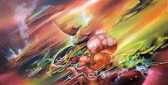 "Threyda | Art & Goods | ""Riding The Surface Tension"" - Brian Scott Hampton 24 x 46 inches"