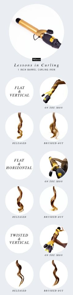 Use one curling iron for many different hairstyles - 13 Truly Useful Curling Iron Hacks and Tricks | GleamItUp