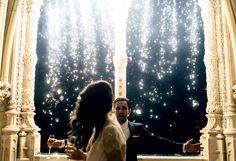 Fireworks. Bussaco Palace wedding - Portugal  www.comobranco.com @marryinportugal #comobranco