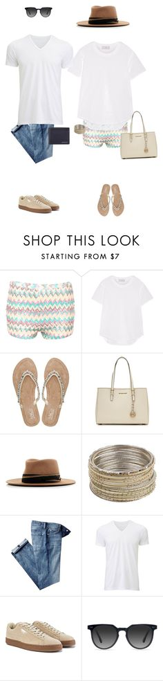 """""""KPl"""" by katyapolywithlove ❤ liked on Polyvore featuring Pilot, adidas, M&Co, MICHAEL Michael Kors, MAISON MICHEL PARIS, Forever 21, 7 For All Mankind, Uniqlo, Puma and Ace"""
