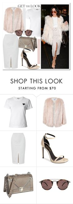 """""""Get The Look - Vanessa Hudgens..."""" by nfabjoy ❤ liked on Polyvore featuring Play Comme des Garçons, Sans Souci, Ted Baker, Yves Saint Laurent, Christian Dior, Oliver Peoples, GetTheLook and VanessaHudgens"""