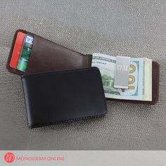 Personalized Leather Folding Case with Money Clip - Monogram Online