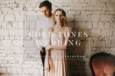 Gold Film Toned Wedding Presets by PhotographersHelper on @creativemarket /Volumes/Marketing/_MOM/Design Freebies/Creative Market Freebies/Gold-Film-Toned-Wedding-Presets