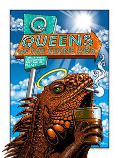 Queens-of-the-Stone-Age-Justin-Hampton-Portland-poster-1