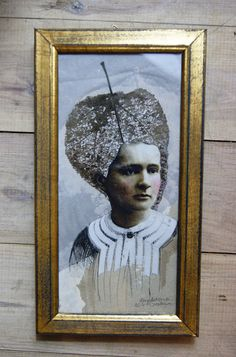 Maria Skłodowska-Curie collage,  portrait, , leaf