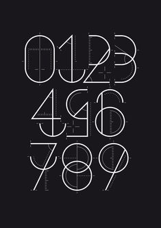"""Numbers designed for a Yorokobu magazine section called """"Numerografía"""". Designed by Wete from Spain"""