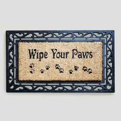 One of my favorite discoveries at WorldMarket.com: Wipe Your Paws Coir Doormat