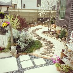 Little Gardens, Small Gardens, Outdoor Gardens, Path Design, Landscape Design, Garden Design, Japan Garden, Green Garden, Garden Paths