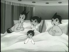 Astro Boy, Astro Girl, Jetto, and Baby Chi.