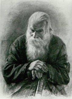 Igor V. Babailov, Old man Leaning on a Stick
