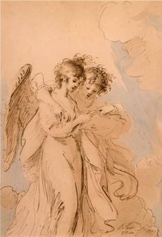 Two Angels Singing - Benjamin West