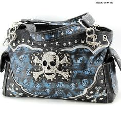 DeeTrade - an online store where you can get unique and stylish products making your life better and brighter. Welcome to the trendy and elegant community! Skull Purse, Medium Bags, Diaper Bag, Shoulder Bag, Handbags, Stylish, Blue, Ebay, Totes