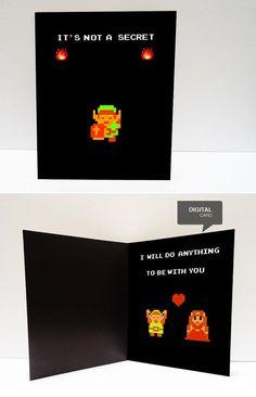 Valentine's Day Card (Legend of Zelda) Zelda Valentine