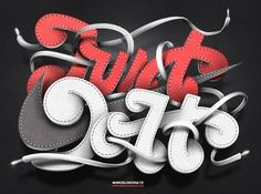 Just do it - Nike experimental   http://www.topdesignmag.com/30-outstanding-examples-of-typographic-illustrations/