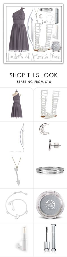 """""""Hunter's of Artemis Prom"""" by goddess-of-moonlight ❤ liked on Polyvore featuring Stuart Weitzman, Marc by Marc Jacobs, Miriam Merenfeld, Rebecca, Daisy Jewellery, Exude and Guerlain"""