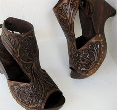 Tooled Clogs by Karen Kell