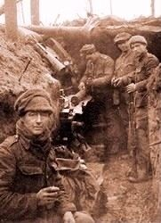 """Christmas in the Trenches, 1914: in the midst of one of the most vile wars ever to occur, there is a Christmas Day to treasure. The Germans seemed to make the first move, delivering a chocolate cake to the British line on the evening of December 24th, accompanied by a note proposing a ceasefire so that the Germans could have a concert. The British accepted the proposal and offered tobacco as their present to the Germans."" #WWI #Christmas #History"