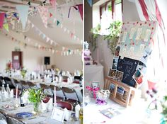 Wedding in a village hall, this would be a cute reception idea :)