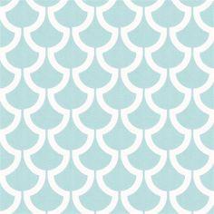 Aqua Billow Fabric by the Yard | Carousel Designs