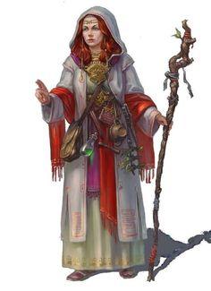 New Averoigne (Principality of; Glantri), or possibly Dungannon (Redstone Castle; Isle of Dawn), or Darokin area(s)/region(s)  [White mage female:]