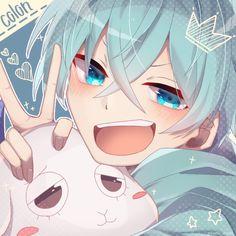 Cute Anime Chibi, Chibi Boy, Cute Anime Boy, Kawaii Anime, Blue Anime, Anime Oc, Manga Anime, Anime Guys Shirtless, Nagisa Shiota