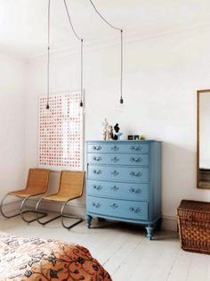 vintage french blue dresser. / sfgirlbybay