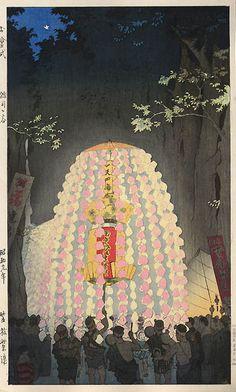 hanga gallery . . . torii gallery: Great Festival at Honmonji Temple by Shiro Kasamatsu