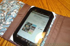 Color Me Glamorous: DIY Kindle Fire Case { Tutorial }. I like this the best of all I've seen because it definitely mimics the cases that are easy to read out of that can be purchased. Would be easy to give it a quilted look like the Vera Bradley items.