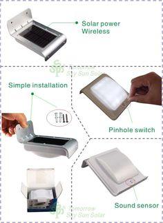 Solárne nástenné svetlo 3x Senzor/16x LED externé SL-10 kov