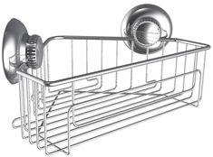 Suction Corner Rack Shelf Organizer Caddy Storage Bathroom Shower Wall Basket JA