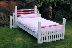 pony bed - a horse-jump bed sure to delight your little lady!