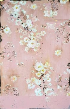 Afternoon Sunlight on a Pink Bedroom Wall, 2018 Pink Love, Pretty In Pink, Pink Bedroom Walls, French Wallpaper, Distressed Texture, Gold Ink, Vintage Colors, Chinoiserie, Boho