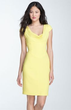 Love the cowl neck, and this is a perfect shade of yellow :D
