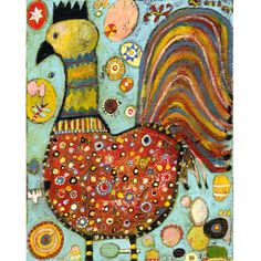 Jill Mayberg on etsy / folk art chickens