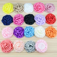 $7.57 (Buy here: https://alitems.com/g/1e8d114494ebda23ff8b16525dc3e8/?i=5&ulp=https%3A%2F%2Fwww.aliexpress.com%2Fitem%2F2015-NEW-ARRIVAL-18pcs-lot-7-5cm-18colors-satin-rolled-rosette-rose-handmade-flower-for-hair%2F32564975761.html ) 18pcs/lot 7.5cm 18colors Satin Rolled Rosette Rose Handmade Flower for Hair Ornaments Garments DIY Hair Accessories for just $7.57