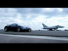 Watch this amazing challenge as Richard Hammond races a Euro Fighter Typhoon in the Bugatti Veyron. Who will win the horizontal vs vertical 2 mile race? See the challenge here in full!